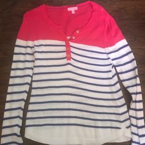 light lilly pulitzer striped sweater